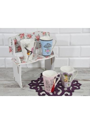 Cooker Trc Porselen Kupa Bardak - 4 Lü Porselen Kupa Bardağı Renkli